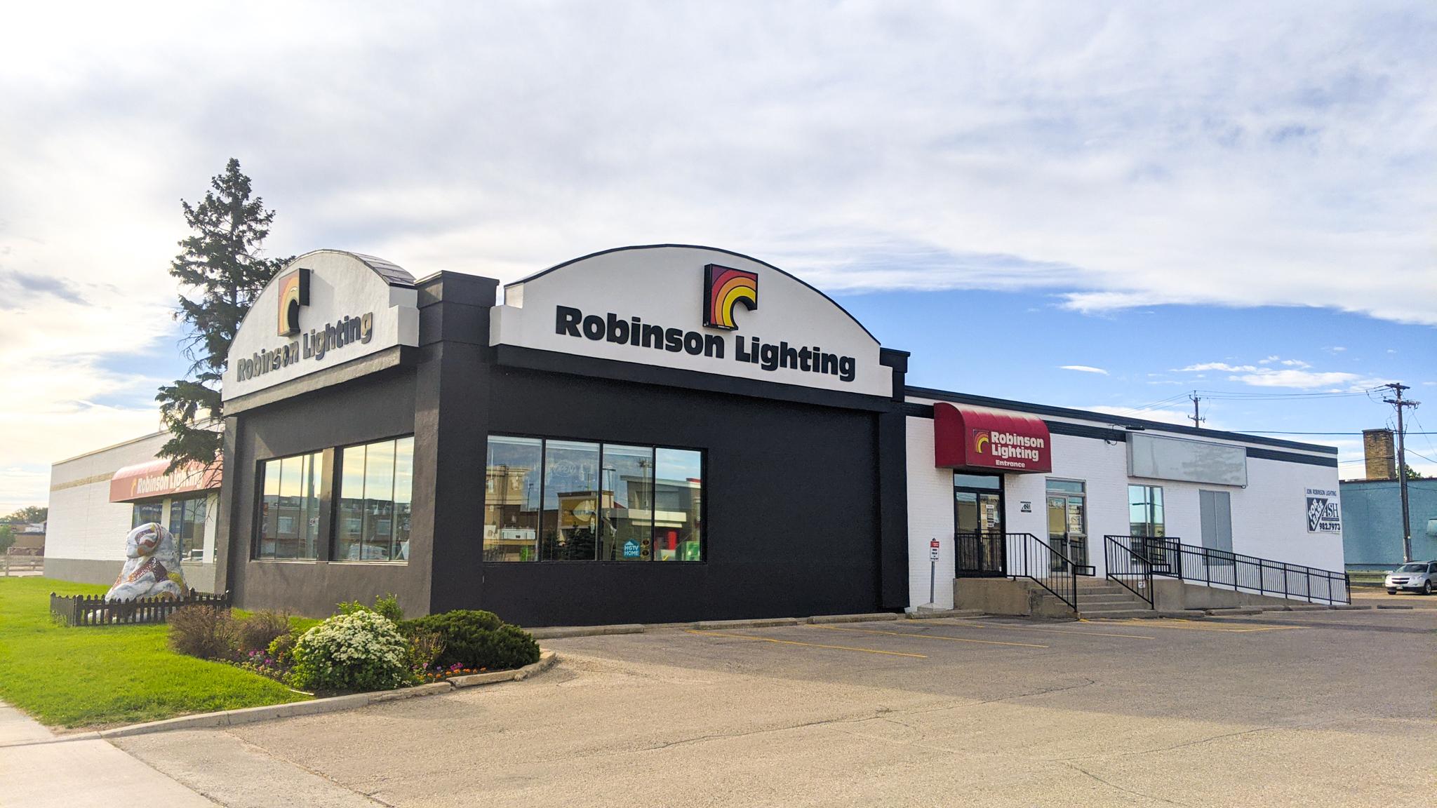 Showroom Photos & Robinson Lighting Locations | Winnipeg | Kelowna | Contact Us -