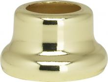 "Satco Products Inc. 90/2192 - Flanged Steel Necks 1/2"" Height-7/8"" Bottom Brass Plated"