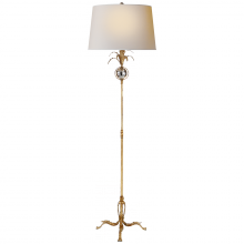 Visual Comfort CHA 9370GI-NP - Gramercy Medium Floor Lamp in Gilded Iron with N
