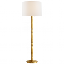 Visual Comfort RL 1130NB-L - Hollis Floor Lamp in Natural Brass with Linen Sh