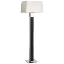 Visual Comfort RL 1592BKE/PN-P - Hardy Floor Lamp in Black Ebony and Polished Nic