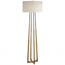 Visual Comfort S 1513GI-PL - Scala Large Hand-Forged Floor Lamp in Gilded Iro