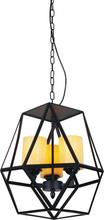 Crystal World 9621P12-3-101 - 3 Light Black Candle Mini Pendant from our Trenton collection