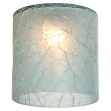 Sea Gull 94395-6123 - Ambiance Crackle Glacier Blue Directional Mini-Glass Shade