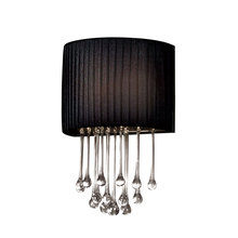 Eurofase Online 16036-017 - Penchant 1-Light Wall Sconce, Black Finish, Black Fabric Shade