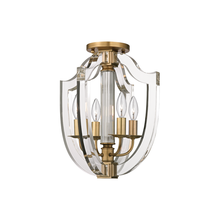 Hudson Valley 6500-AGB - 4 Light Semi Flush