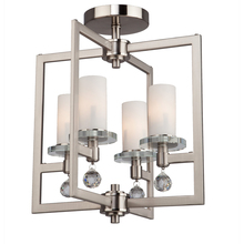 Artcraft AC10273 - Melbourne 4 Light  Brushed Nickel Semi Flush