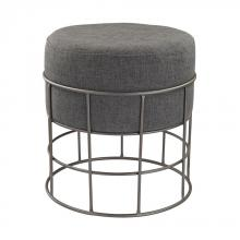 Dimond 3200-010 - Pewter And Grey Linen Stool