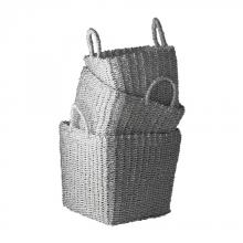 Dimond 784018 - Nested Recycled Twisted Silver Foil Baskets - Se