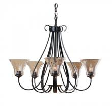Hubbardton Forge - Canada 101454-SKT-05-LL0022 - Sweeping Taper 5 Arm Chandelier
