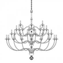 Hubbardton Forge - Canada 191560-SKT-07 - Ball Basket 36 Arm Chandelier