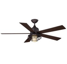 "Savoy House 52-624-5CN-13 - 52"" One Light English Bronze Cream Indian"