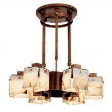 Kalco 2508-1AC/ALAB - Bedford 6 Light Chandelier With Wood Accents
