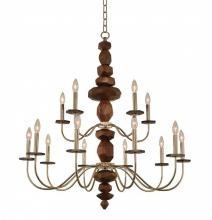 Kalco 304952CG - Lassen 2 Tier Chandelier (10+5 Light)