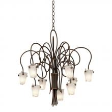 Kalco 4309AC/FROST - Tribecca 9 Light Chandelier