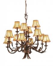 Kalco 5032PD/8045 - Ponderosa 12 Light Chandelier
