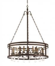 Kalco 5799BZ - Morris 24 Light Chandelier