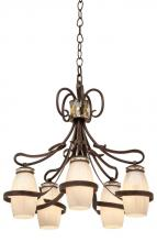 Kalco 6022AC/SHELL - Monaco 5 Light Chandelier