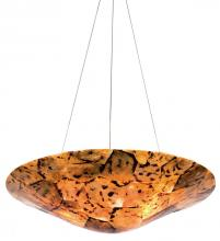 Varaluz 178P03B - Big 3-Lt Bowl Pendant - Chocolate Tiger