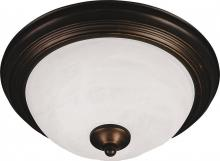 Maxim 5841ICST - Two Light Slate Ice Glass Bowl Flush Mount