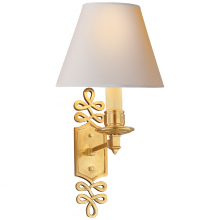 Visual Comfort AH 2010NB-NP - Ginger Single Arm Sconce in Natural Brass with N