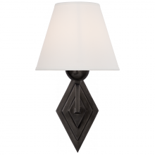Visual Comfort AH 2050GM-PL - Bettina Single Sconce in Gun Metal with Natural