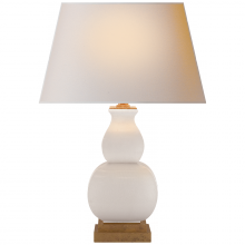 Visual Comfort CHA 8628IC-NP - Fang Gourd Bedside Lamp in Ivory Crackle with Na