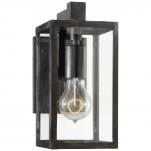 Visual Comfort CHD 2930AI-CG - Fresno Framed Short Sconce in Aged Iron with Cle