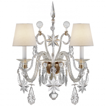 Visual Comfort RL 2262CG-L - Alexandra Large Sconce in Crystal Glass and Natu