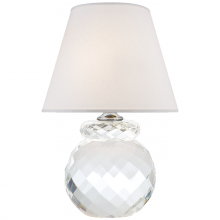 Visual Comfort RL 3905CG-S - Daniela Accent Lamp in Crystal with Silk Shade