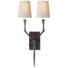 Visual Comfort S 2120AI-NP - Bristol Small Sconce in Aged Iron with Natural P