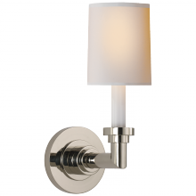 Visual Comfort SL 2845PN-NP - Wilton Single Sconce in Polished Nickel with Nat