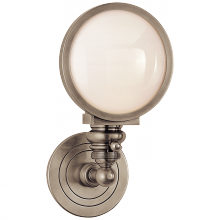 Visual Comfort SL 2935AN-WG - Boston Head Light Sconce in Antique Nickel with