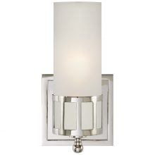 Visual Comfort SS 2011PN-FG - Openwork Single Sconce in Polished Nickel with F