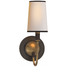 Visual Comfort TOB 2067BZ/HAB-NP/BT - Elkins Sconce in Bronze and Hand-Rubbed Antique
