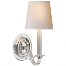 Visual Comfort TOB 2120PS-NP - Channing Single Sconce in Polished Silver with N