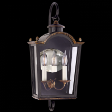 Visual Comfort RL 2741OBT-CG - Brinkley Small Bracketed Lantern in Old Black To
