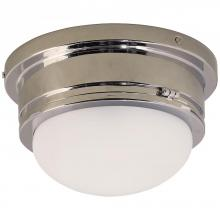 Visual Comfort SL 4001CH-WG - Marine Medium Flush Mount in Chrome with White G