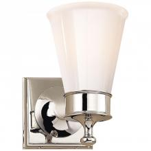 Visual Comfort SS 2001PN-WG - Siena Single Sconce in Polished Nickel with Whit