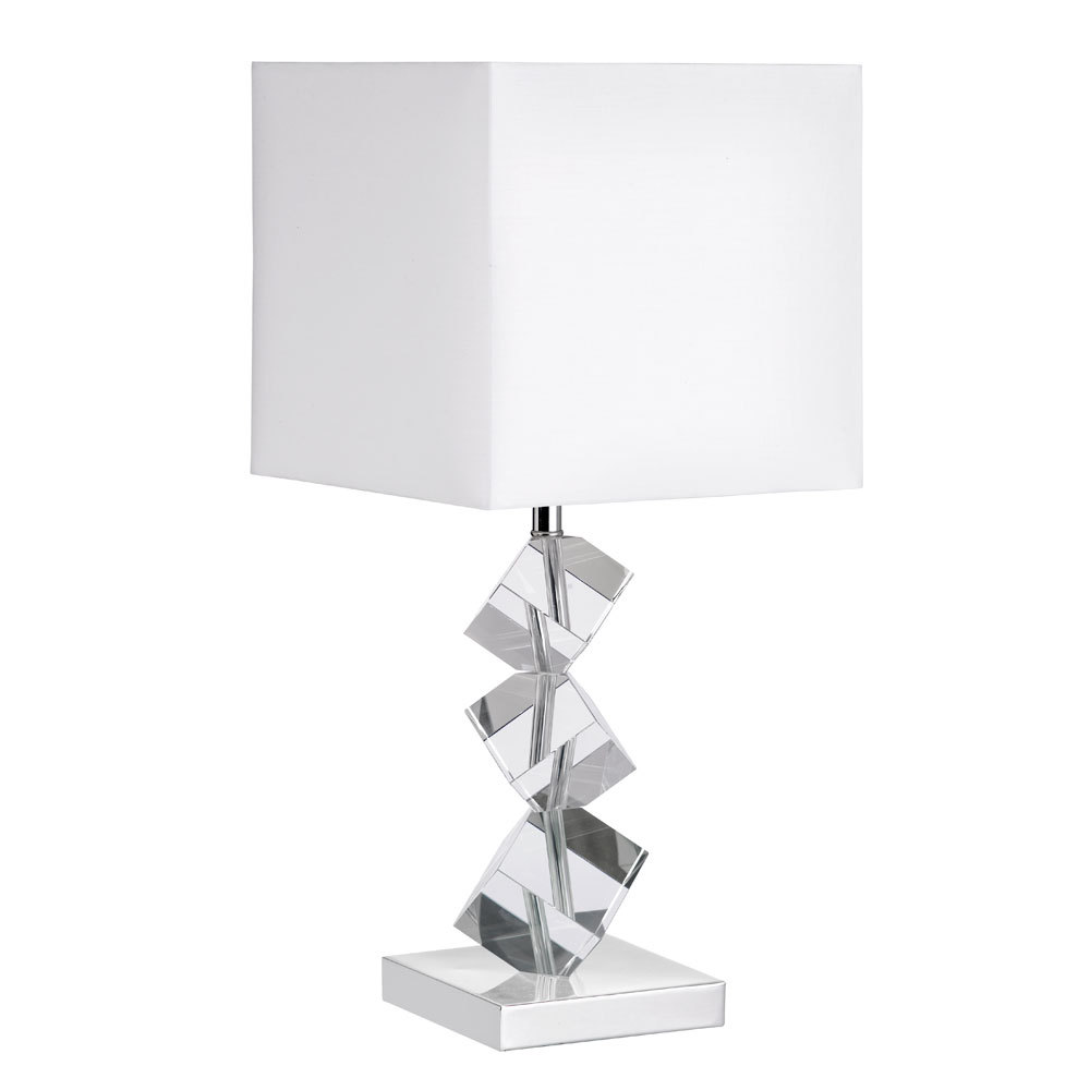 Robinson Lighting in Winnipeg , Manitoba, Canada,  2CWTM, Table Lamp w/ Crystal Cubes,