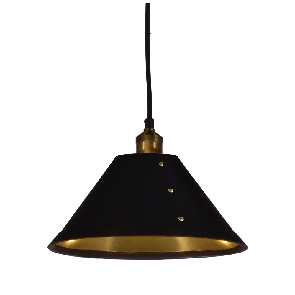 Robinson Lighting in Winnipeg , Manitoba, Canada,  2K5XD, 1LT Empire Shade Pendant, BK, Fayette