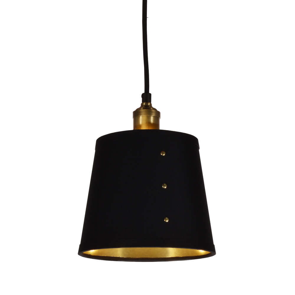 Robinson Lighting in Winnipeg , Manitoba, Canada,  2K5XL, 1LT Tapered Drum Pendant, BK, Fayette