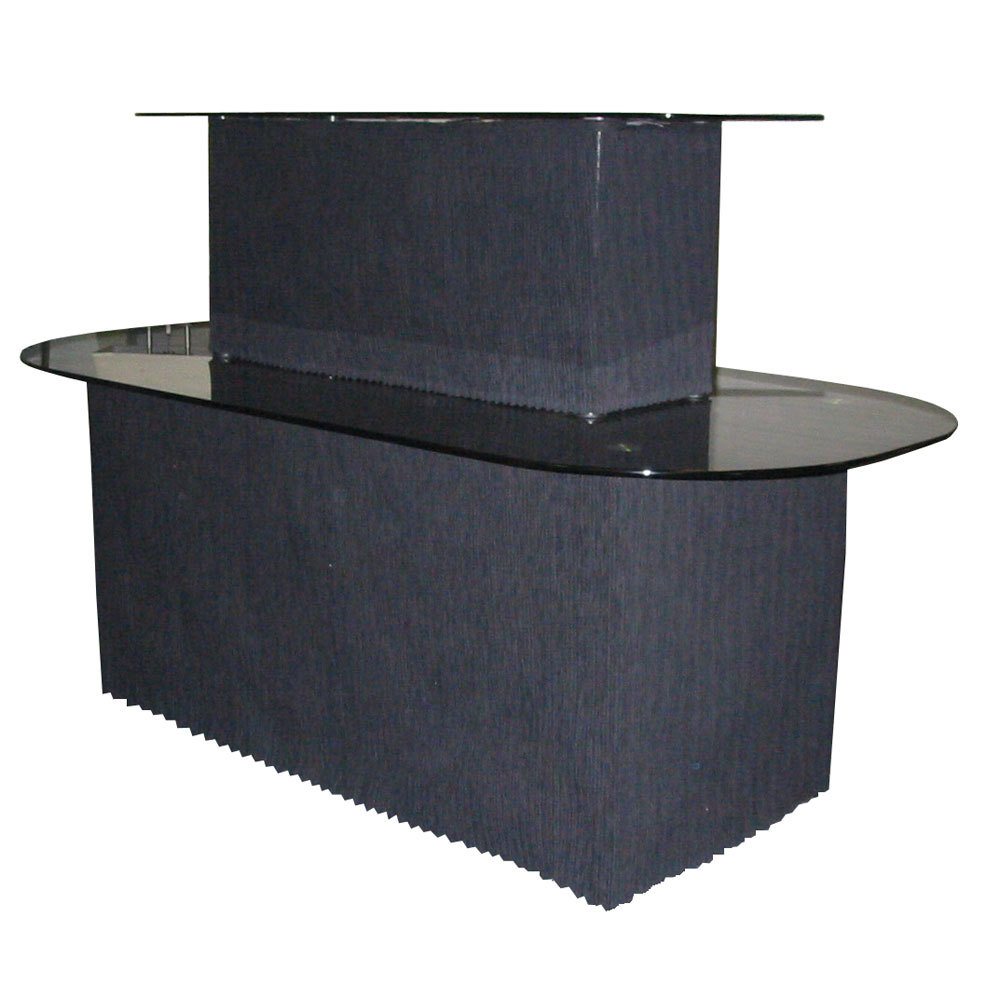 Robinson Lighting in Winnipeg , Manitoba, Canada,  22VPF, Black Glass/Black Graphite Display Table,