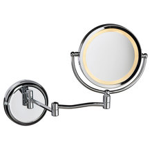 Dainolite LEDMIR-1W-PC - Swing Arm LED Lighted Magnifier Mirror