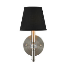 Golden Canada 3500-1W PW-GRM - Waverly 1 Light Wall Sconce in Pewter with Tuxedo Shade