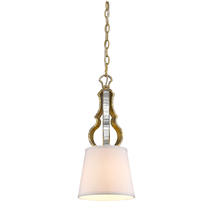 Golden Canada 5140-M1L LG - Hayworth Mini Pendant in Luxe Gold with Austere White Shade