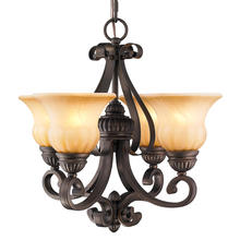 Golden Canada 7116-GM4 LC - Mayfair 4 Light Mini Chandelier in Leather Crackle with Cr�me Brulee Glass