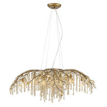 Golden Canada 9903-12 MG - Autumn Twilight 12 Light Chandelier in Mystic Gold