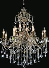 CWI Lighting 2011P36AB-12 - 12 Light Up Chandelier with Antique Brass finish