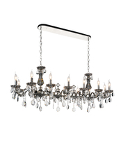 Crystal World 2016P54C-14 - 14 Light Up Chandelier with Chrome finish